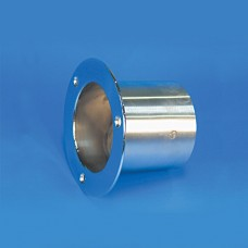 """EXHAUST TIP STAINLESS STEEL FLUSH MOUNT/STRAIGHT MOUNT FLANGE 4""""W/FLAP"""