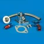 Thermostat Kit-Stainless Steel SB & BB Chevy With Blower Long -10 An Fittings