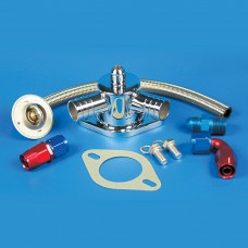 "Thermostat Kit-Stainless Steel SB & BB Chevy 1"" Slip Hose Fittings"