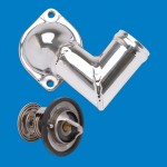 """Thermostat Kit-Stainless Steel SB & BB Chevy 3/4"""" Npt Fittings"""