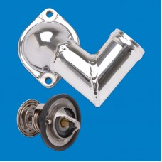 "Thermostat Kit-Stainless Steel SB & BB Chevy 3/4"" Npt Fittings"