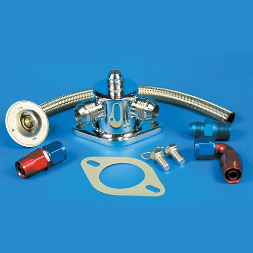 Thermostat Kit-Stainless Steel SB & BB Chevy -10 An Fittings