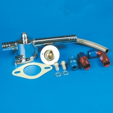 "Thermostat Kit-Stainless Steel SB & BB Chevy With Blower Long 1"" Slip Fittings"