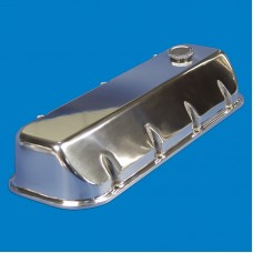 VALVE COVERS BB CHEVY ANGLED SMOOTH POLISHED FINISH