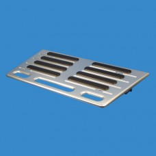 """Billet Aluminum Swim Steps with rubber inserts 14"""" X 28"""" with 12 Degree Brackets"""