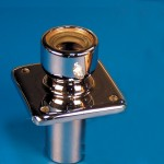 "RUDDER STUFF BOX-SINGLE SEAL 1-1/8"" CHROME"