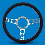 STEERING WHEEL RACER BILLET ALUMINUM-POLISHED SPOKES