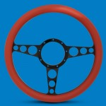 STEERING WHEEL RACER BILLET ALUMINUM-COLOR SPOKES