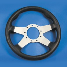 GRANT 9 BOLT STEERING WHEEL BLACK COVER/SILVER SPOKES