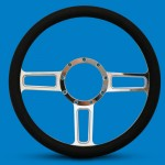 STEERING WHEEL LAUNCH BILLET ALUMINUM- POLISHED SPOKES