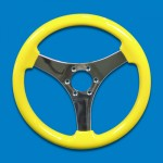 SYMMETRICAL STEERING WHEEL-YELLOW