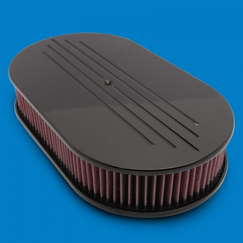 Air Cleaners For Dominator Carbs : Billet aluminum oval air cleaner ball milled dominator