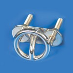 "SKI TOW RING STAINLESS STEEL TRANSOM MOUNT - 3"" ROUND"