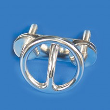 """SKI TOW RING STAINLESS STEEL TRANSOM MOUNT-3-1/2"""" ROUND"""