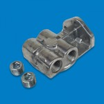 "FUEL FILTER HEAD DUAL INLET 1/2"" NPT"