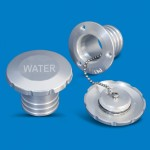 "BILLET ALUMINUM FLUSH MOUNT WATER FILL 1-1/2"" HOSE"