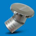 """BILLET ALUMINUM FLUSH MOUNT WATER FILL NON-VENTED 2"""" HOSE WITH AN ANGLED BASE"""