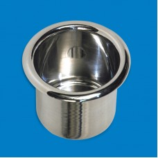 "Cup Holder Spun Aluminum- Large(3-3/4"")"