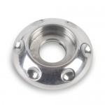 BILLET ALUMINUM ACCENT BUTTONHEAD WASHERS #10 POLISHED FINISH