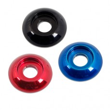 "BILLET ALUMINUM PLAIN ACCENT BUTTONHEAD WASHERS 3/8"" COLORED FINISH"