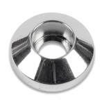 "BILLET ALUMINUM PLAIN SOCKET CAP WASHERS #10 X 5/8""  POLISH FINISH"