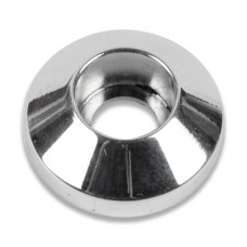 "BILLET ALUMINUM PLAIN SOCKET CAP WASHERS 1/4"" X 3/4""  POLISH FINISH"