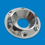 BILLET ALUMINUM ACCENT COUNTERSUNK WASHERS #10 POLISHED FINISH