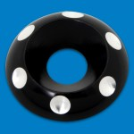 BILLET ALUMINUM ACCENT COUNTERSUNK WASHERS HIGHLIGHT FINISH 1/4""