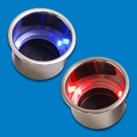Stainless Steel LED Cup Holders (2)