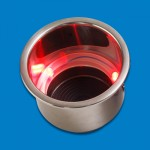 CUP HOLDERS STAINLESS STEEL RED LED LIGHT