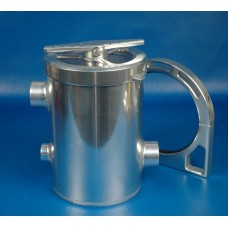 Sea Strainer Aluminum With Bracket Clear Anodized