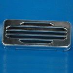 BILLET ALUMINUM STEREO COVER CLASSIC STYLE