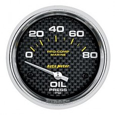 "OIL PRESSURE 80 PSI 2-5/8"" CARBON FIBER"