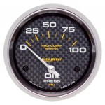 "OIL PRESSURE 100 PSI 2-5/8"" CARBON FIBER"