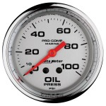 "OIL PRESSURE MECHANICAL100PSI 2-5/8"" PLATINUM"