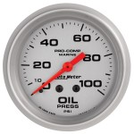 "OIL PRESSURE MECHANICAL 100PSI 2-5/8"" SILVER"