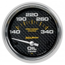 "OIL TEMP 2-5/8"" CARBON FIBER"