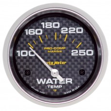 "WATER TEMP 2-5/8"" CARBON FIBER"