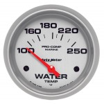 "WATER TEMP 2-5/8"" SILVER"