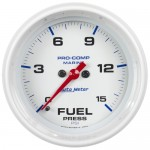 "FUEL PRESSURE 15 PSI 2-1/16"" WHITE"