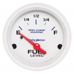 "FUEL LEVEL 2-1/16"" WHITE"