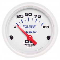 "OIL PRESSURE 100 PSI 2-1/16"" WHITE"