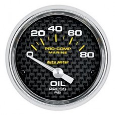 "OIL PRESSURE 80 PSI 2-1/16"" CARBON FIBER"