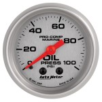 "OIL PRESSURE MECHICAL 100 PSI 2-1/16""SILVER"
