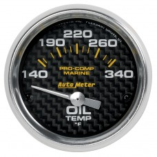 "OIL TEMP 2-1/16"" CARBON FIBER"