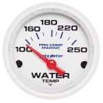 "WATER TEMP 2-1/16"" WHITE"