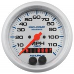 "GPS HP SPEEDOMETER WITH DISPLAY 120MPH 3-3/8"" WHITE"