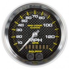 """GPS HP SPEEDOMETER WITH DISPLAY 140MPH 3-3/8"""" CARBON FIBER"""