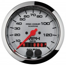 "GPS HP SPEEDOMETER WITH DISPLAY 140MPH 3-3/8"" PLATINUM"