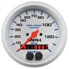 "GPS HP SPEEDOMETER WITH DISPLAY 140MPH 3-3/8"" WHITE"